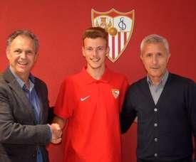 Javi Vázquez seguirá los pasos de su padre. SevillaFC