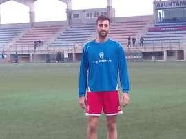 Javi Meca en un entrenamiento con el Eldense. Twitter
