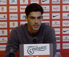 Noblejas fue presentado en el Sporting. Captura/RealSportingTV