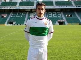 Javi Noblegas sufrió un corte profundo en el partido frente al Lugo. ElcheCF