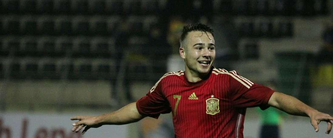 Ontiveros volvió a marcar con España. Twitter