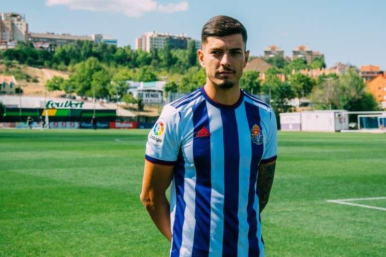 Javi Sánchez podría cambiar la camiseta del Valladolid por la del Valencia. RealValladolid