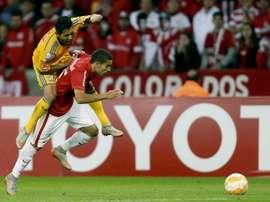 Partido entre Tigres e Internacional en la Copa Libertadores. EFE