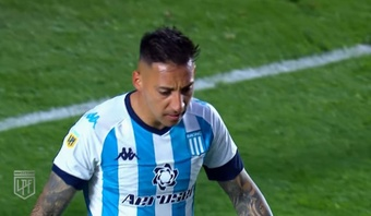 Racing perdió por 2-0 frente a Argentinos Juniors. Captura/LigaProfesionalArgentina