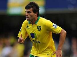 Javier Garrido, en su etapa con el Norwich. Twitter