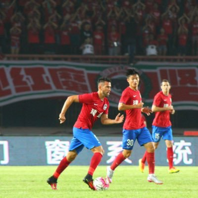 Javier Patino in action for Henan Jianye. Twitter/@JaviPati9