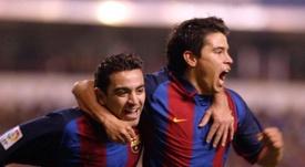 Saviola ve a Lautaro en el Barcelona. FCBarcelona