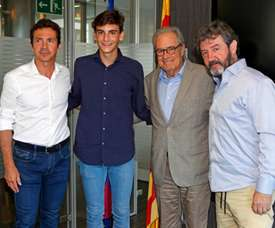Villar llega al Barcelona. FCBMasia