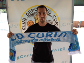 Javito, de debutar junto a Messi en el Barça, a Tercera. Twitter/CDCoria