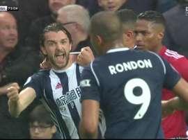 Rodríguez puso toda la salsa del mundo en Old Trafford. Captura /Sky Sports