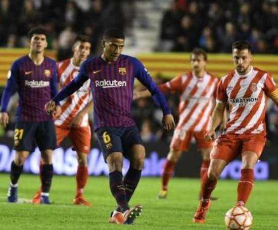 Leverkusen want to sign Jean-Clair Todibo from Barca. AFP