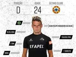 El lateral jugará en la categoría de plata del fútbol portugués. Twitter/AcademiaOAF