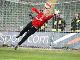 Jean Francois Gillet saving a penalty during his time with Bari. Twitter