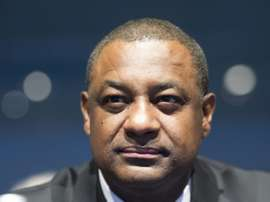 Jeffrey Webb, then-president of CONCACAF and the Cayman Islands Football Association and FIFA Vice President, attends the XXXIX Ordinary UEFA Congress in Vienna on March 24, 2015