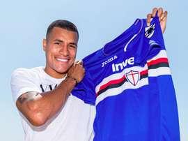 La Sampdoria annonce Jeison Murillo, le 13/07/19. Twitter/Sampdoria