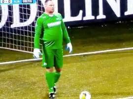 Su oronda figura volvió a causar impacto. Captura/KNVB