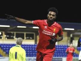 Jerome Sinclair jugará en el Watford a partir de la próxima temporada. Archivo/LiverpoolFC