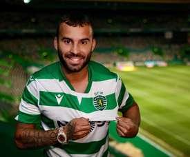Jesé já posa com a camisa do Sporting. SportingCP