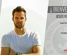 Jesús Fernández Collado, presentado como nuevo jugador de la Cultural Leonesa. CulturalLeonesa