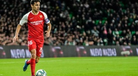 Jesús Navas cumplió un triunfo histórico en el derbi. SevillaFC