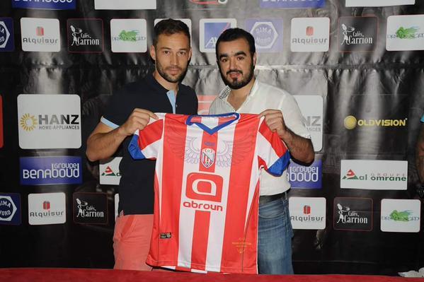 Tato firma con el Mogreb de Primera División Marruecos. Twitter