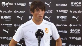 El joven Jesús Vázquez se ve mejor que nunca. Captura/ValenciaCF