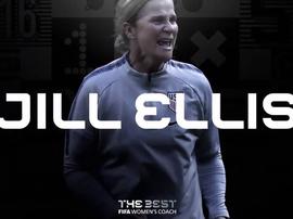 Jill Ellis é a melhor do ano 2019. Twitter/fifacom_es
