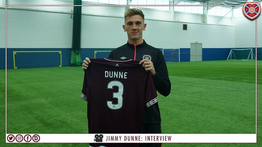 Dunne has signed a six-month loan deal. Twitter/JamTarts