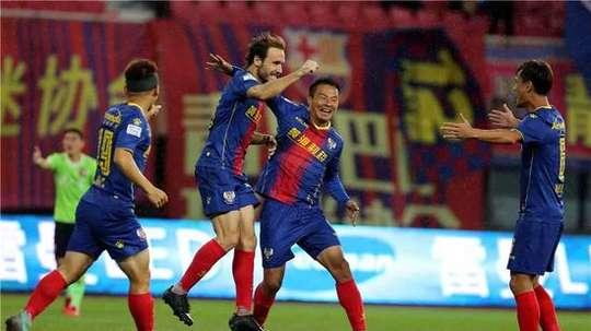 El ex del Espanyol vive su temporada más goleadora. Twitter/SuperLigaChina