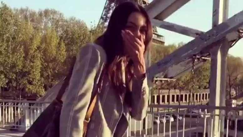 Joana Sanz se rio de Dani Alves. Captura