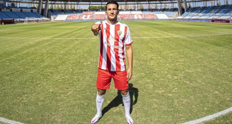 Joao Carvalho, al Almería. Twitter/U_D_Almeria