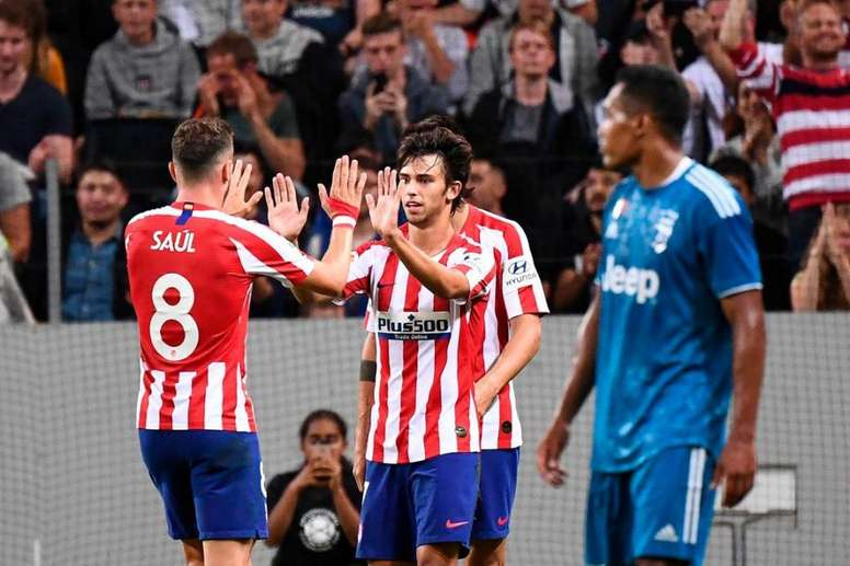 El Atlético, lanzado de la mano de Joao Félix. AFP