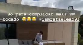 Joao Félix se divierte en cuarentena. Captura/Joaofelix79