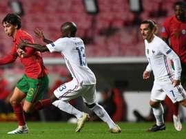 Joao Felix's Portugal were beaten by Antoine Griezmann's France. AFP