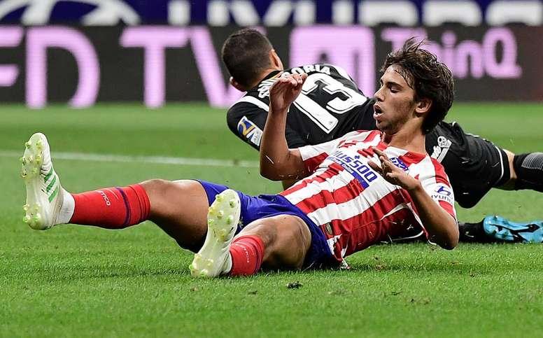 Filipe Luis gave Joao Felix some advice. AFP