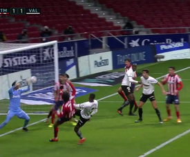 Joao Félix eqaulised for Atlético. Screenshot/MovistarLaLiga