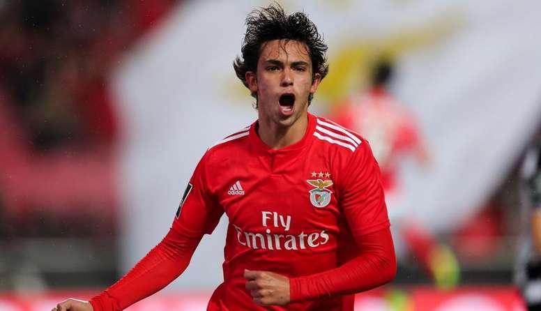 João Félix mostra seu amor ao Benfica. EFE/Miguel A.Lopes