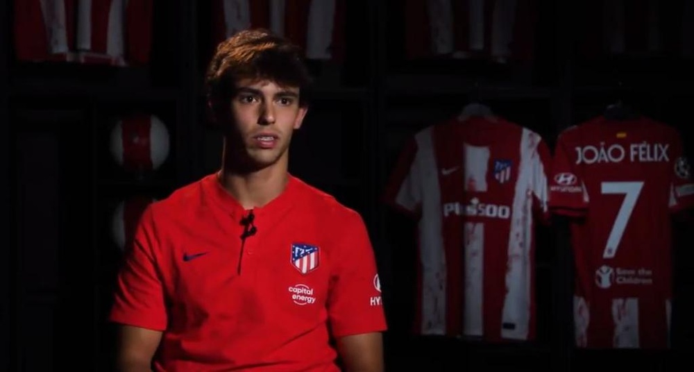 Joao Félix se enfrentará a su ex equipo, el Oporto. Twitter/Atleti