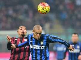 Miranda no entraría en los planes de futuro del Inter de Milán. AFP