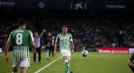 Joaquín volvió a los entrenamientos. Twitter/RealBetis