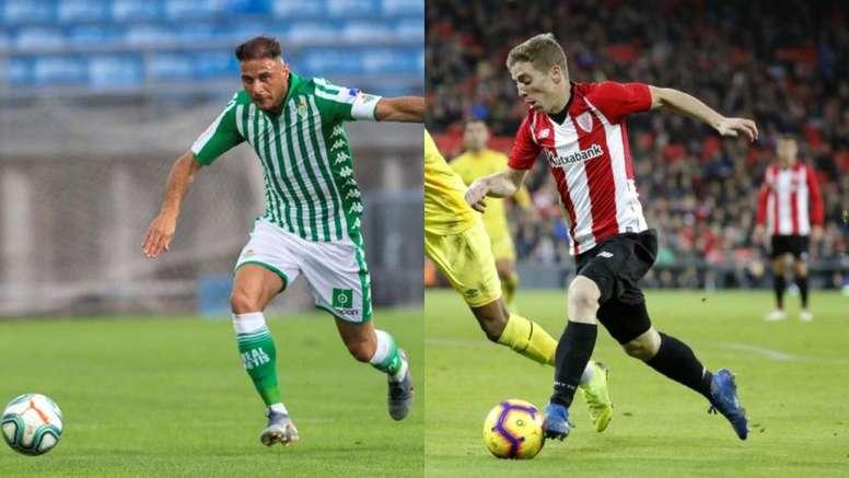 Joaquín y Muniain son dos de los capitanes de LaLiga. Montaje/EFE