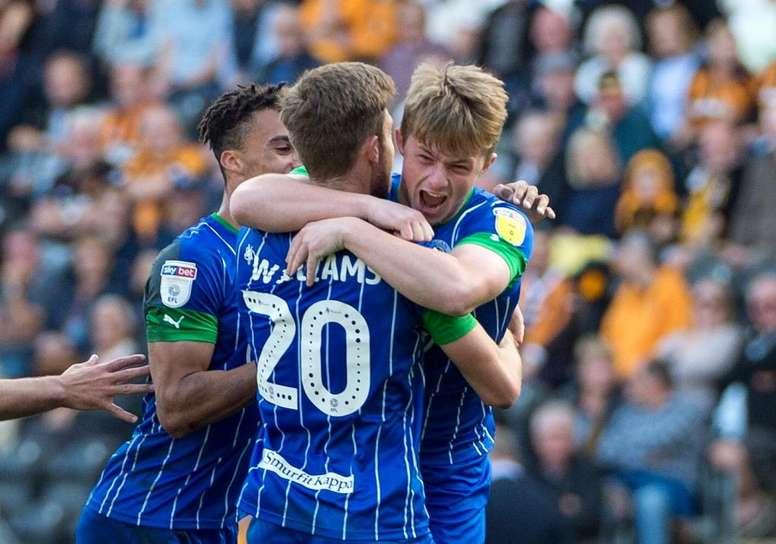 El Wigan tiene que salvarse por más de 12 puntos de diferencia. Twitter/LaticsOfficial