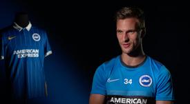Veltman, nuevo futbolista del Brighton. Captura/BrightonTV