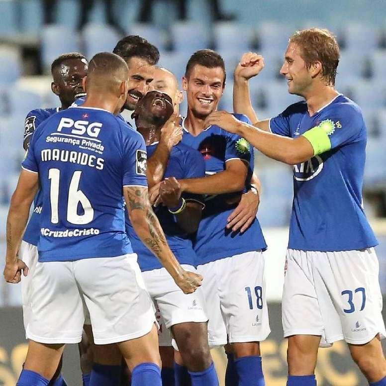 O Belenenses venceu o Nacional por 3-0 na despedida da temporada. Twitter/Belenenses