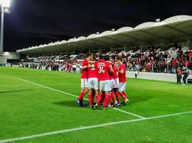 O Benfica venceu o Moreirense por 0-4 e voltou a assumir a liderança. Twitter @SLBenfica
