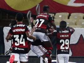 Mistão do Flamengo vence o Junior sem dificuldades. Twitter @LibertadoresBR