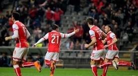 O Braga foi ao Aves vencer e assumir o segundo lugar. Twitter/SCBraga