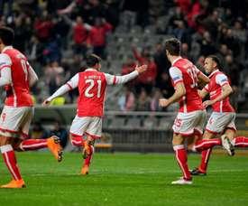 O Sp. Braga bateu o Estoril por 0-6. Twitter/SCB