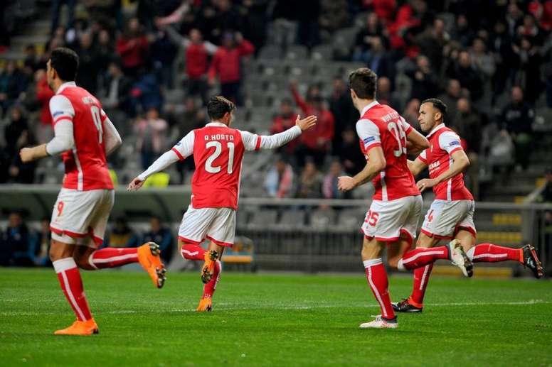 Horta marcó en la goleada del Braga. SCBraga