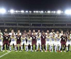 Jogo entre Torino e Chapecoense. Twitter @TorinoFC_1906